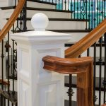 Close-up photo of a custom box newel.
