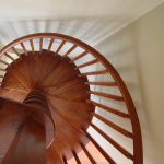 Wood spiral stair