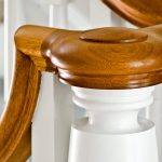 Close-up photo of a custom newel post.