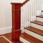 Photo of a wood box newel.