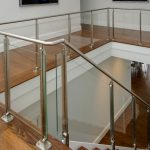 Photo of glass railing.