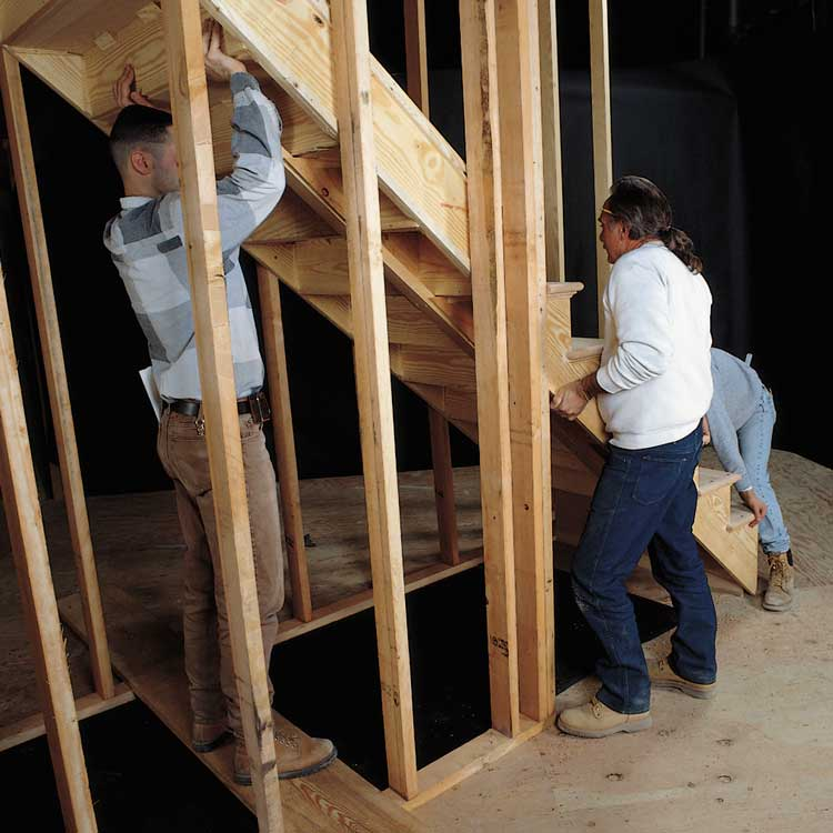 photo of stair installation