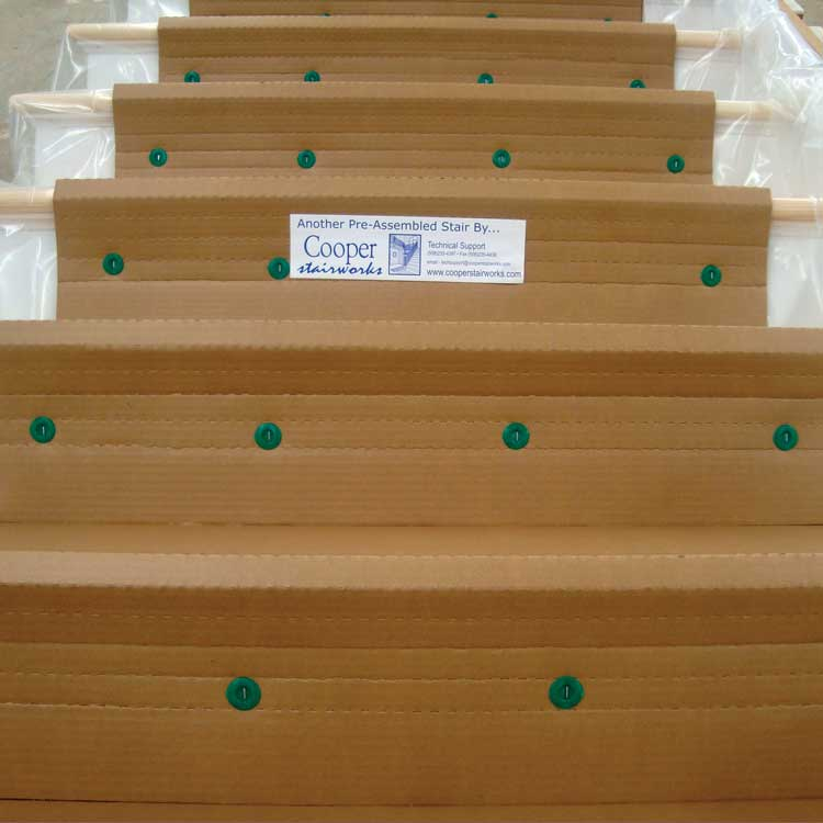 photo of stair packaged for shipping