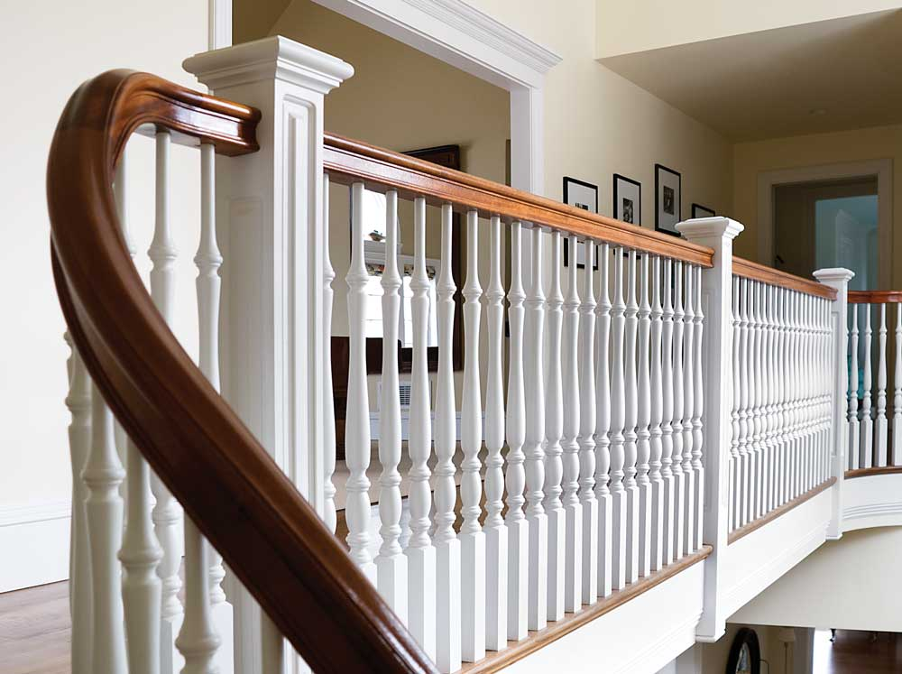 photo of box newels and balusters on railing