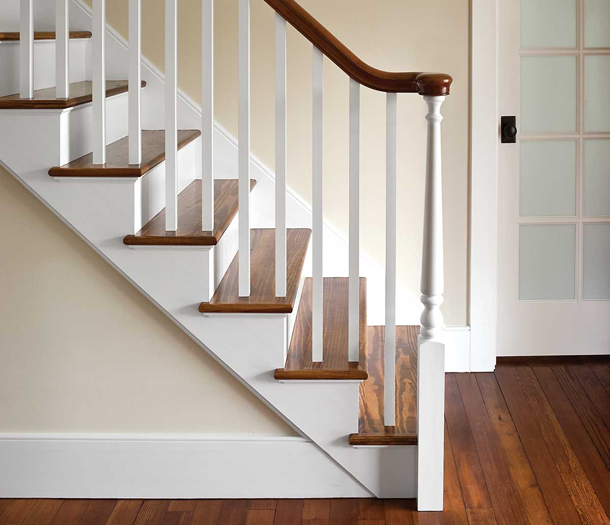 photo of stair with square balusters