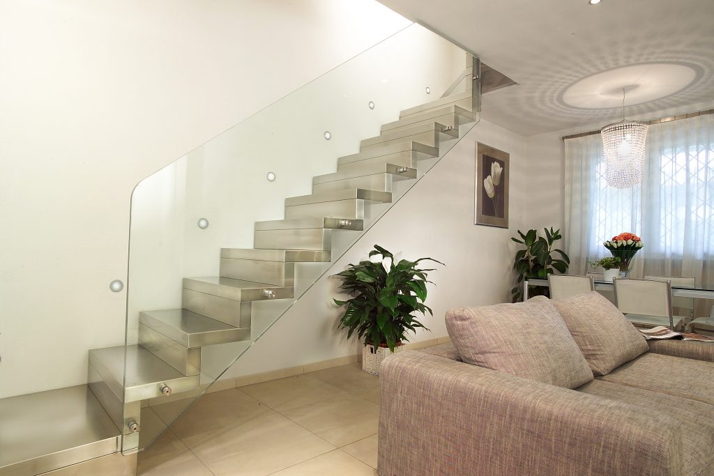 photo of marretti stair with glass balustrade