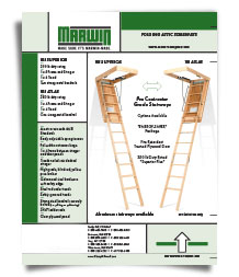 photo of Marwin Attic Stair sell sheet