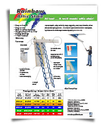 photo of Rainbow sell sheet